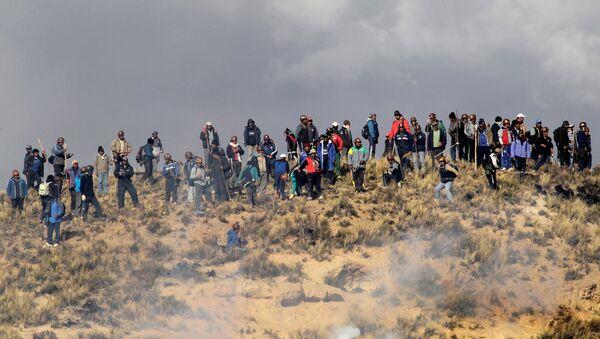 Protesta de los mineros, Bolivia - Sputnik Mundo