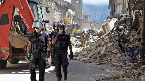 El terremoto en Italia - Sputnik Mundo