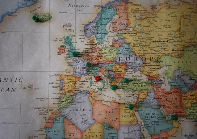 Un mapa de Europa