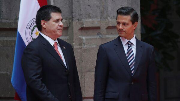 Presidente de Paraguay, Horacio Cartes, y presidente de México, Enrique Peña Nieto - Sputnik Mundo