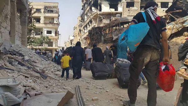 Evacuación de la población civil de la ciudad de Daraya - Sputnik Mundo