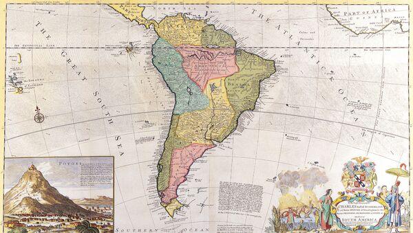 Antiguo mapa de América Latina - Sputnik Mundo