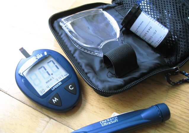 Un glucómetro