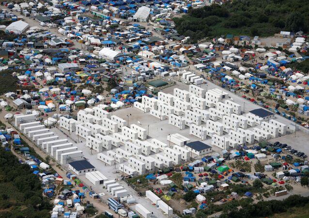 El campamento de refugiados en Calais, Francia (archivo)