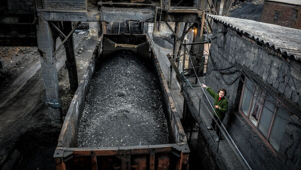 Una mina de carbón en Donbás - Sputnik Mundo