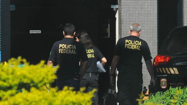 Agentes da Polícia Federal do Brasil, dezembro de 2016 (foto de arquivo) - Sputnik Mundo