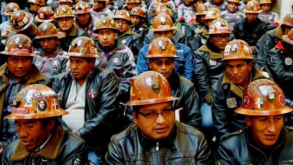 Mineros de Bolivia (Archivo) - Sputnik Mundo