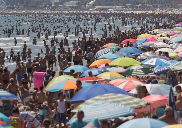 Una playa en Valencia