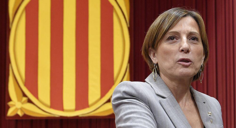 Carme Forcadell, presidenta del Parlamento de Cataluña