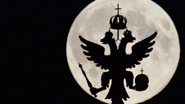La silueta del escudo de Rusia en Kremlin - Sputnik Mundo