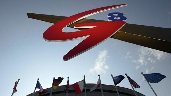Logo de G8 en San Petersurgo en 2006 (archivo) - Sputnik Mundo