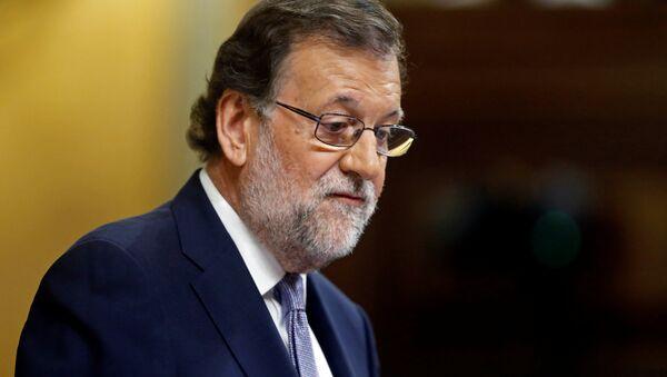 Mariano Rajoy, presidente en funciones de España, durante el debate de investidura - Sputnik Mundo