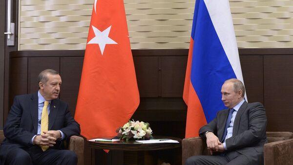 Banderas de Turquía y Rusia - Sputnik Mundo
