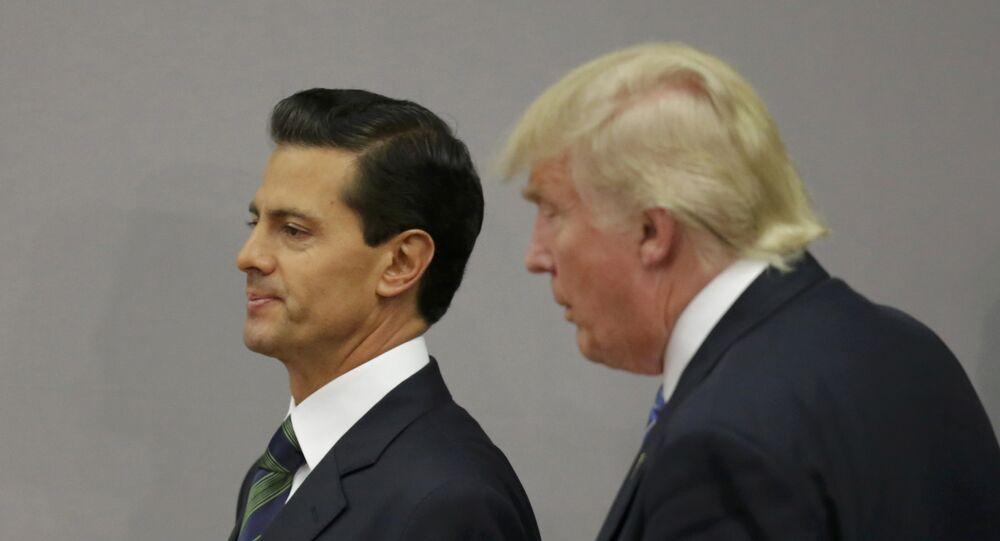 Presidente de México, Enrique Peña Nieto, y candidato a la presidencia de EEUU, Donald Trump