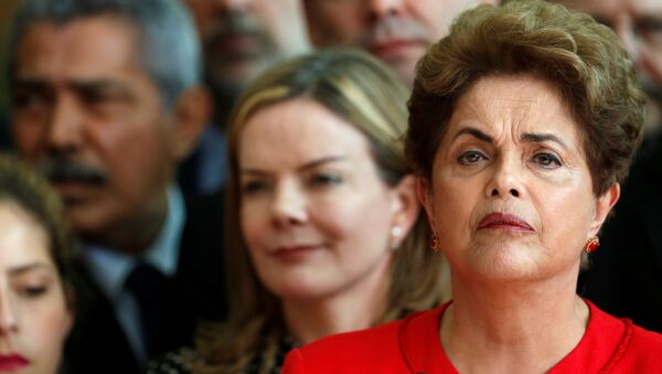 Brazil's former President Dilma Rousseff, who was removed by the Brazilian Senate from office earlier, speaks at the Alvorada Palace in Brasilia, Brazil, August 31, 2016 - Sputnik Mundo