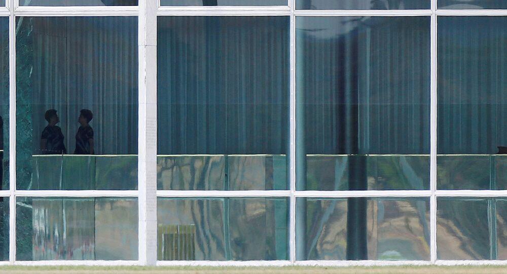 La expresidenta de Brasil, Dilma Rousseff, en el Palacio de la Alvorada en Brasilia