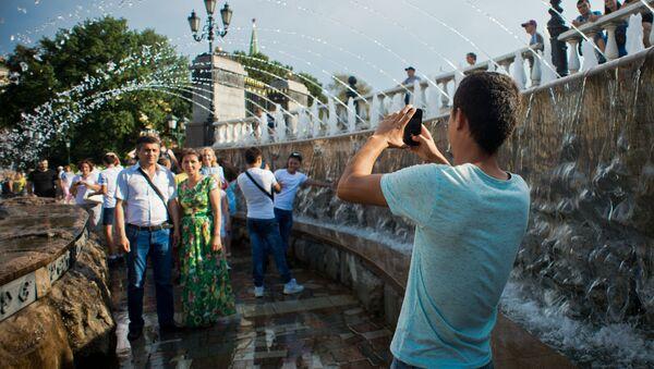 Unos turistas en Rusia - Sputnik Mundo