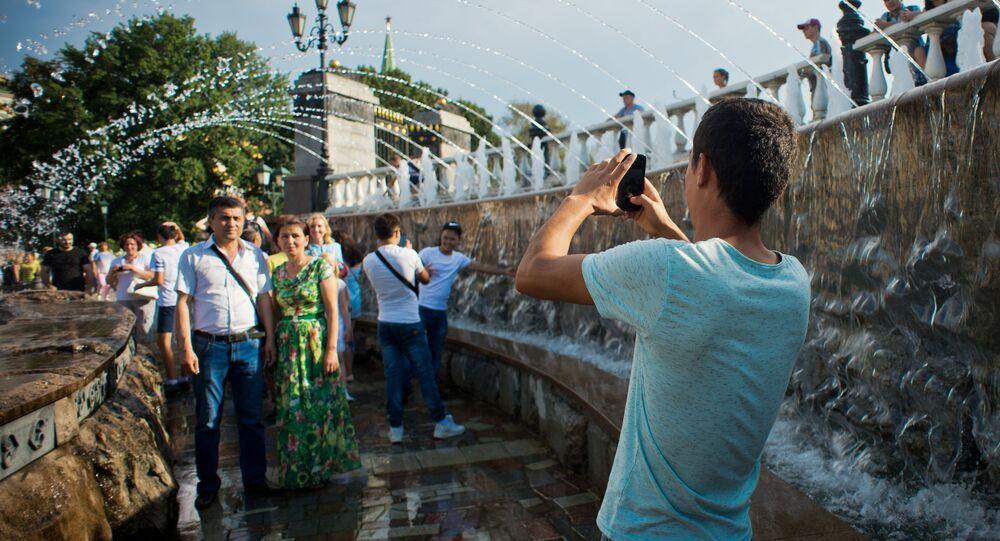 Unos turistas en Rusia
