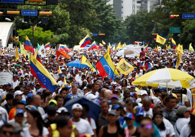 Protesta de la oposición venezolana (archivo)