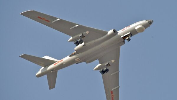 Un bombardero estratégico chino Xian Hong-6K (archivo) - Sputnik Mundo