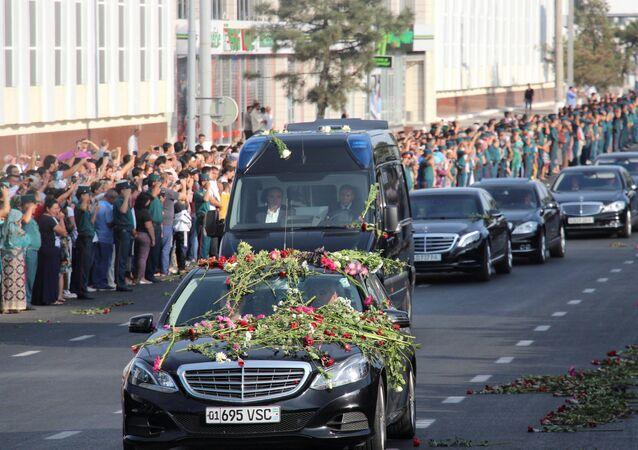 El cortejo fúnebre del presidente de Uzbekistán, Islám Karímov, en Taskent