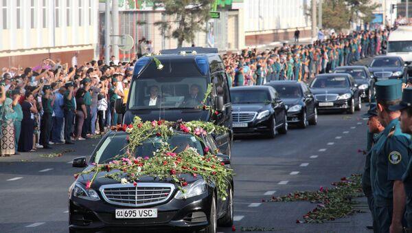 El cortejo fúnebre del presidente de Uzbekistán, Islám Karímov, en Taskent - Sputnik Mundo