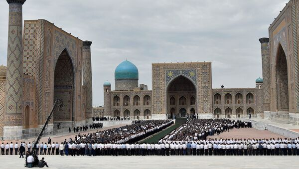 La ceremonía de despedida con el presidente Islám Karímov en Samarcanda, Uzbekistán - Sputnik Mundo