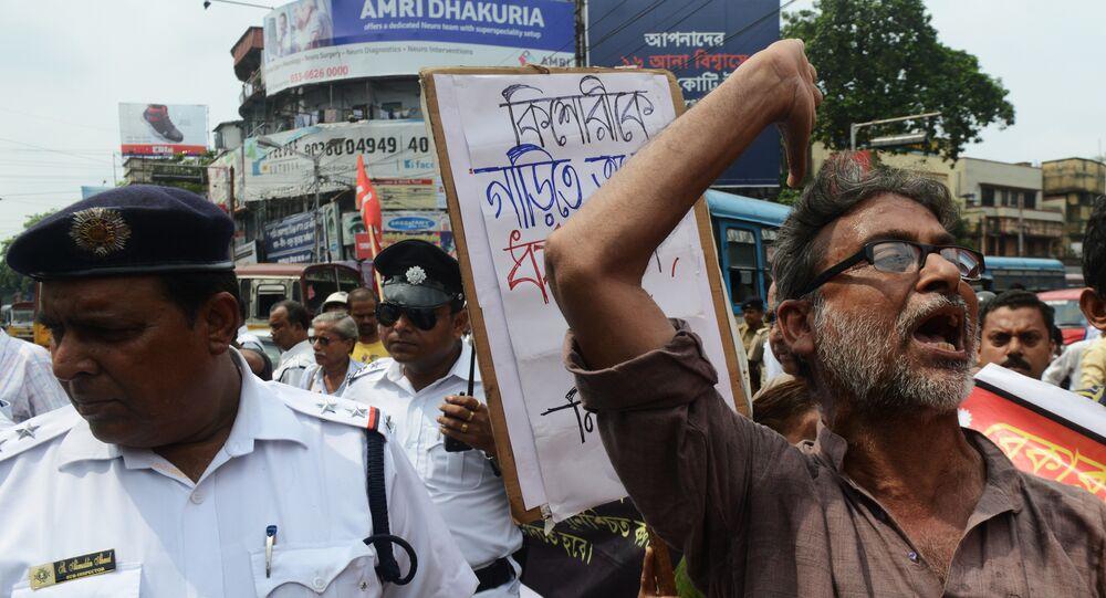 La huelga en la India