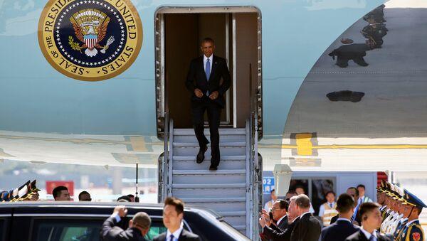 Presidente Obama arriba a Hangzhou, China para asistir a la cumbre de G20 - Sputnik Mundo