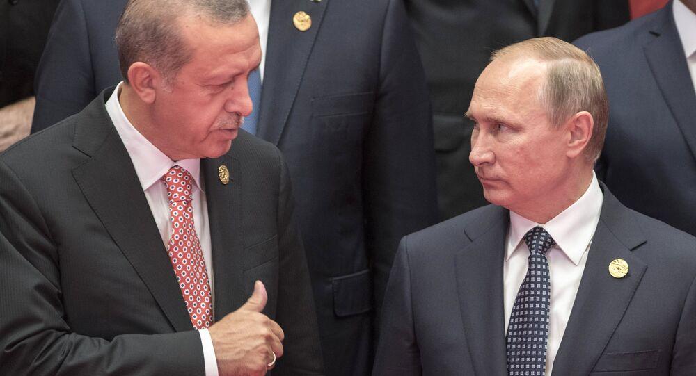 Recep Tayyip Erdogan, presidente de Turquía, y Vladímir Putin, presidente de Rusia