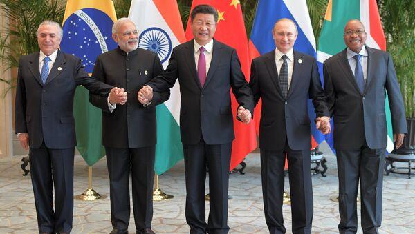 Líderes de los países BRICS (archivo) - Sputnik Mundo
