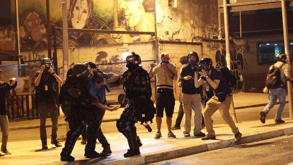 Una detención en Sao Paulo (archivo) - Sputnik Mundo