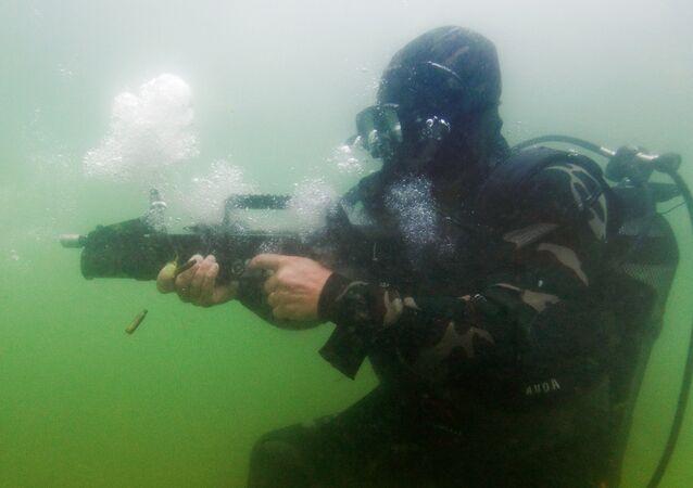 Las pruebas del fusil de asalto anfibio (archivo)