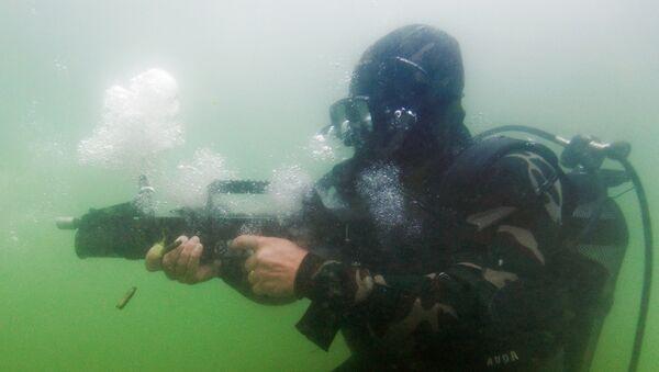 Las pruebas del fusil de asalto anfibio ADS (archivo) - Sputnik Mundo