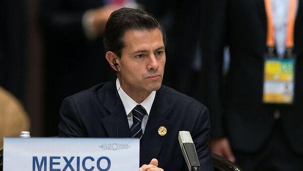 Enrique Peña Nieto, presidente de México, durante la cumbre de G20 - Sputnik Mundo