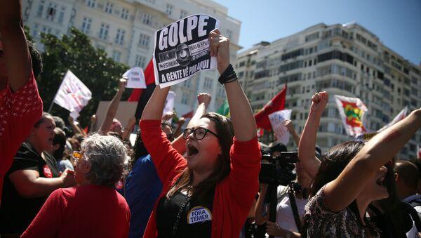 Protesta en Brasil contra Michel Temer - Sputnik Mundo