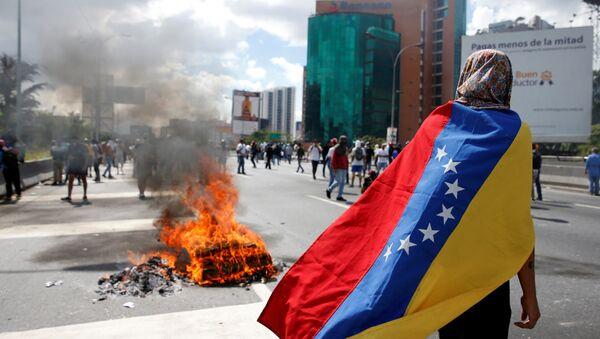 Protesta en Venezuela - Sputnik Mundo