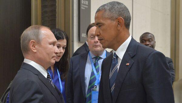 Putin y Obama en la cumbre del G-20 en Hangzhou (China) - Sputnik Mundo