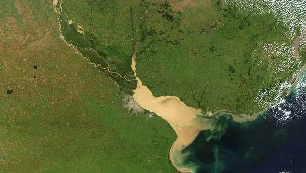 Vista satelital del río Paraná - Sputnik Mundo
