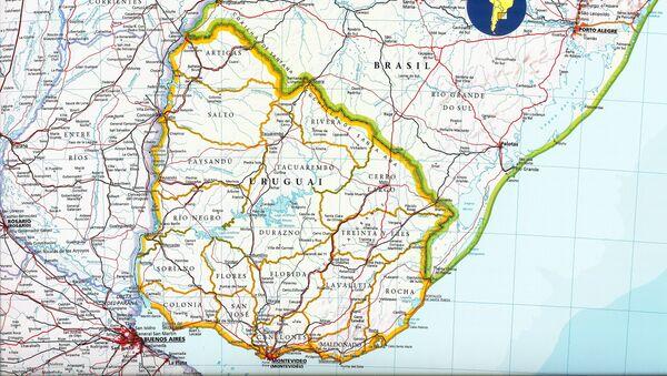 El mapa de Uruguay - Sputnik Mundo