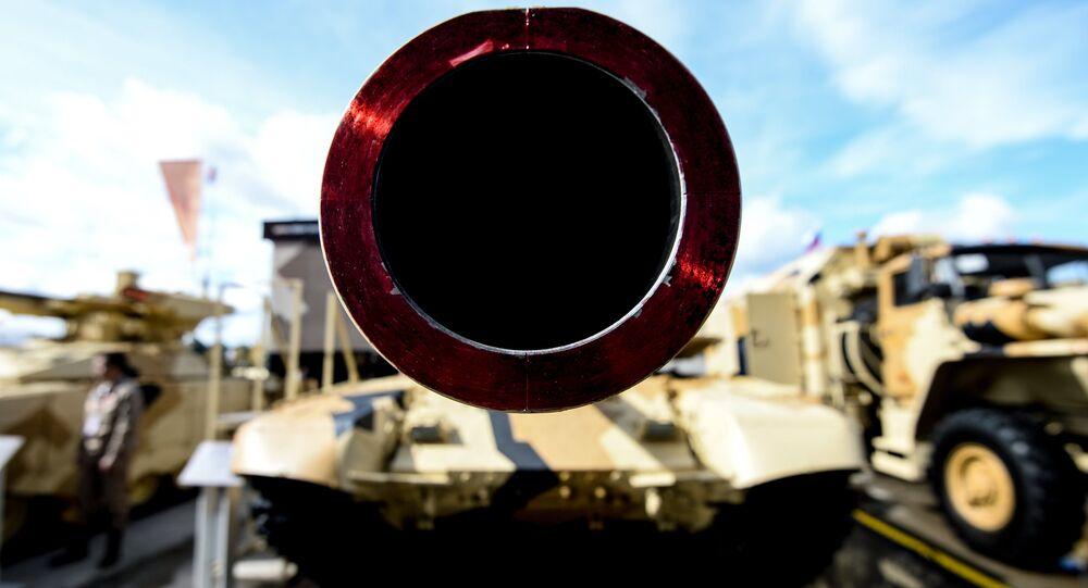 Tanque T-90MS en el Foro Internacional Army 2016