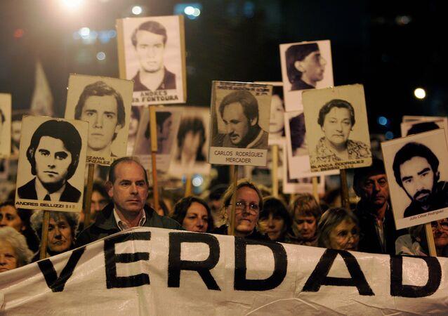 Marcha de Silencio en conmemoración de las víctimas de la dictadura en Uruguay (archivo)