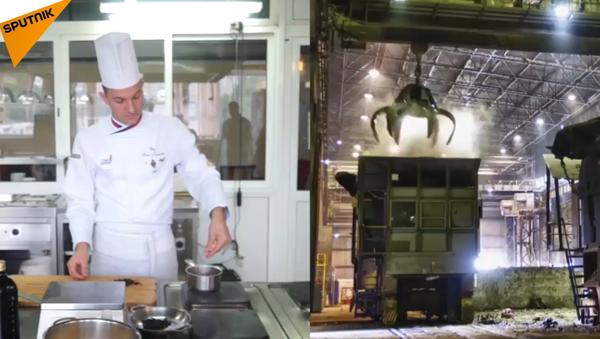 Sopa de acero: chef ruso prepara un plato al estilo metalúrgico - Sputnik Mundo