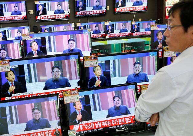 Las noticias en televisión sobre los ensayos nucleares de Corea del Norte