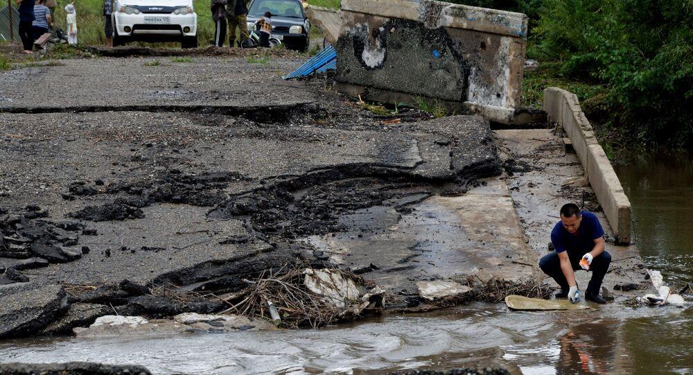 Daños causados por el tifón Lionrock en Rusia