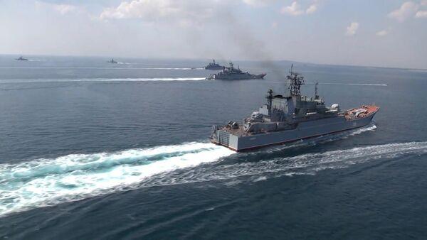 Buques de la Flota rusa del Mar Negro y de la Flotilla del Caspio (archivo) - Sputnik Mundo