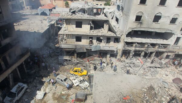 Las consecuencias del ataque aéreo en Idlib - Sputnik Mundo