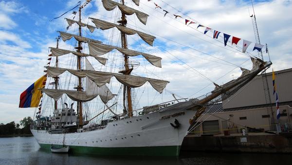 El buque escuela perteneciente a la Armada de Colombia - Sputnik Mundo