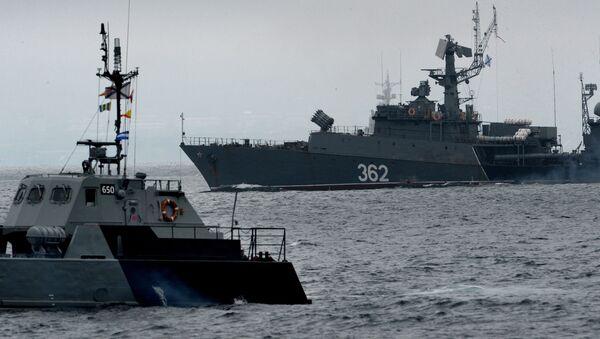 Buques de la Flota rusa del Pacífico (archivo) - Sputnik Mundo