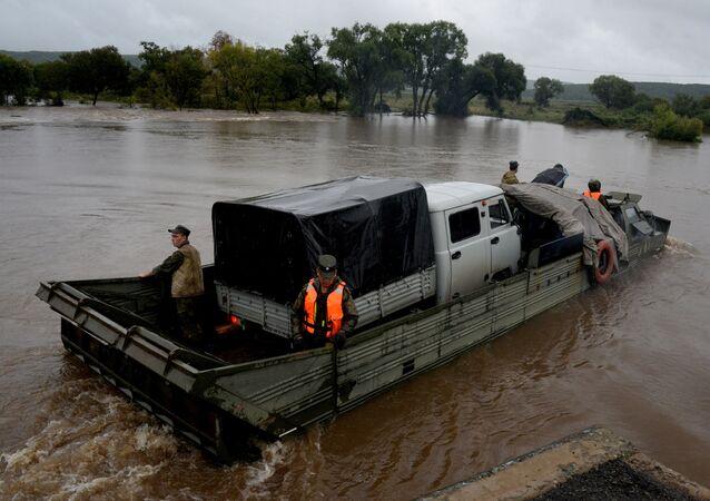 Las consecuencias de las inundaciones en la región rusa de Primorie causadas por el tifón Lionrock
